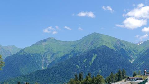 Gazprom complex, mountain view. Sochi, Russia ビデオ