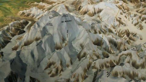 Mount McKinley model pan left P HD 1535 Footage