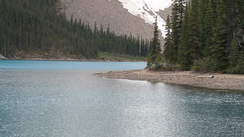 Mountain glacier lake forest P HD 1210 Footage