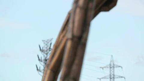 Closeup look at bronze parts of Spider Maman sculpture in Guggenheim Museum Footage