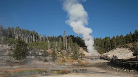 Mud geyser area Yellowstone P HD 2551 Footage