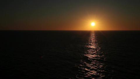 Ocean sunset off center P HD 4327 Live Action