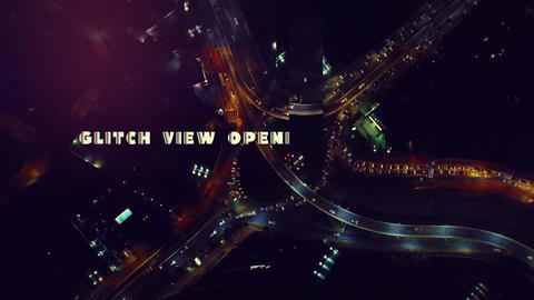 Glitch View Opener After Effects Template