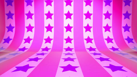 3D Curved Wall & Move Star(Pink Purple) Animation