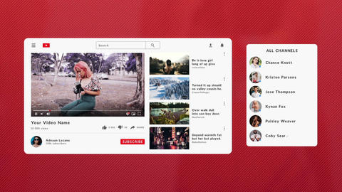 YouTube Social Media Elements After Effects Template