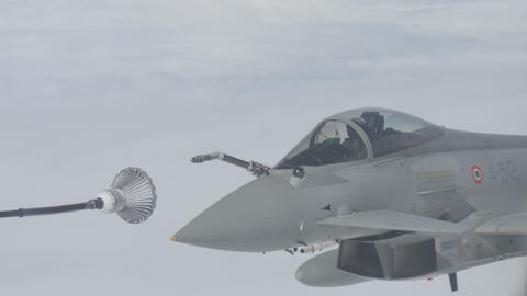 Fighter Aircraft Aerial Refueling Live Action