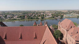 View at the Nogat river from the Malbork Castle Acción en vivo