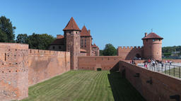 External fortifications of teutonic order castle in Malbork, Poland Live Action