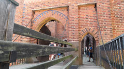 Malbork castle. The drawbridge leading to the first gate into the High Castle Live Action