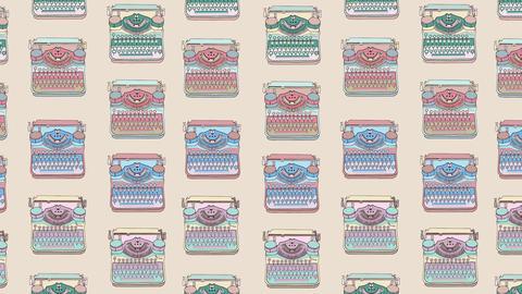vintage art background typewriter pattern beige Animation