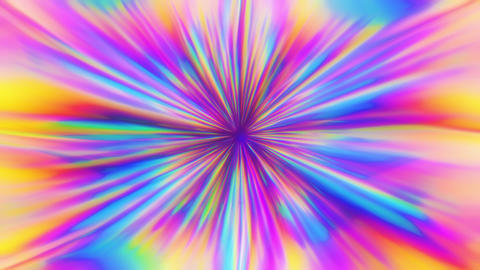 Vibrant Colorful Holographic Abstract Cheerful Rays Animation