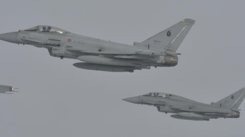 Fighter Aircraft Mid Air Refueling Live Action