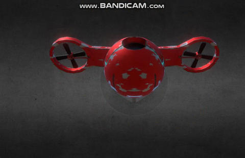 Red Drone 3D Model