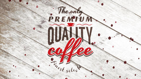 cafe bar sign with retro offset promoting the lone premium quality coffee of the best choosing Animation