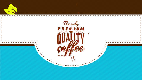 stylish brown grind blended coffee theme for luxury breakfast cafe with old fashioned elements Animation