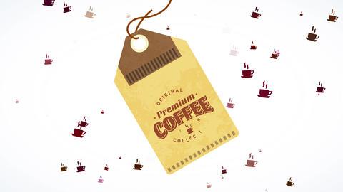genuine premium coffee collection cardboard coupon breaking from its parcel for miniature Animation