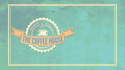 the coffee mansion leaflet covering performance for premium quality product with plush symbol on Animation