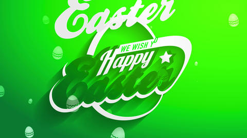 we wish yourself joyful easter script covering with 50s future fancy typeface with embryo artwork Animation
