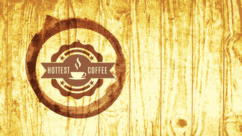 roast coffee beans handbag thinking for cappuccino espresso mocha machine over rustic wooden texture Animation