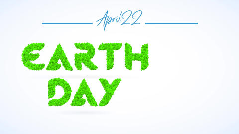 april 22 earth day sign towards motivate teamwork towards reduce plastic use reuse and recycling for Animation