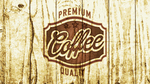 cafe brewery sign selling high quality roasted coffee with minimalist elegant emblem and lettering Animation