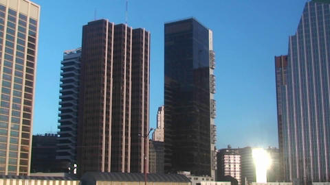 Skyline of Buenos Aires from harbor Stock Video Footage