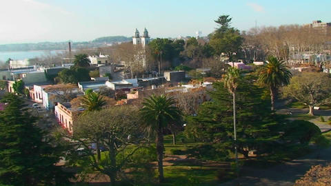 Historic Colonia, Uruguay cityscape Stock Video Footage