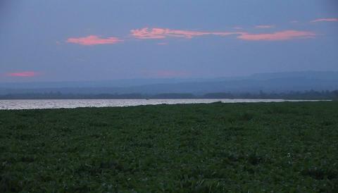 The sun has just set below the horizon Stock Video Footage