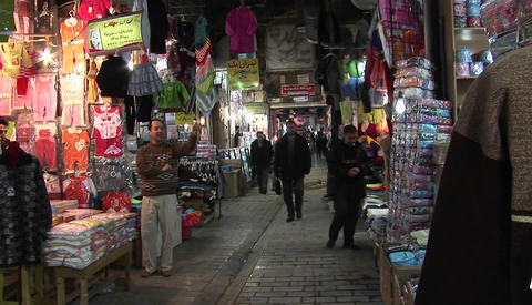 A mannequin in a bazaar in Iran Stock Video Footage