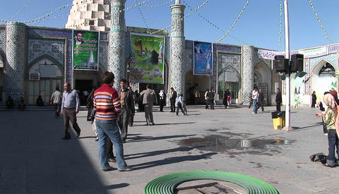 The Tomb of the Prophet Daniel in Susa, Iran Stock Video Footage