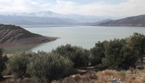 A lake in Iran Stock Video Footage