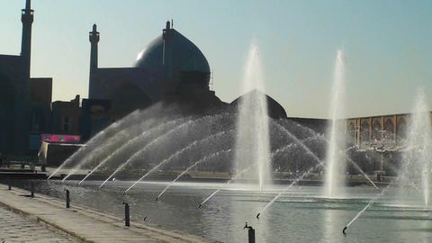 Naqsh-e Jahan Square in Isfahan, Iran Stock Video Footage