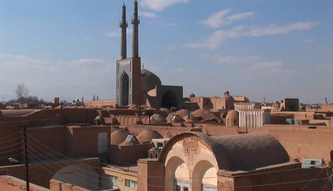 Naqsh-e Jahan Square in Isfahan, Iran Footage
