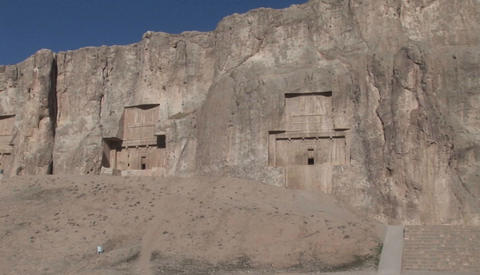 The ancient village of Kandovan in Iran. The village was carved out of the soft sandstone mountainsi Footage