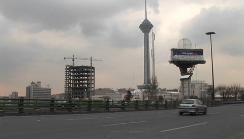 Milad Tower in Tehran, Iran Stock Video Footage