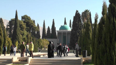Hosseiniye Ershad religious institute in Tehran, Iran Stock Video Footage