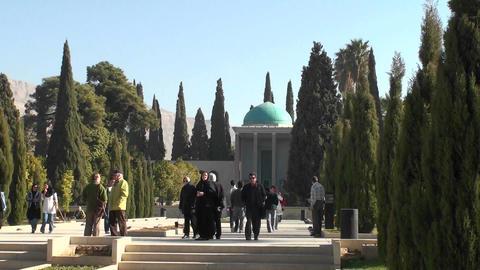 Hosseiniye Ershad religious institute in Tehran, Iran Stock Video Footage