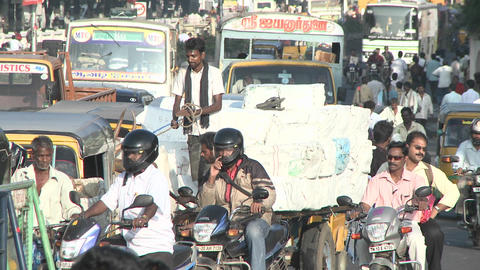 A busy street in India Stock Video Footage