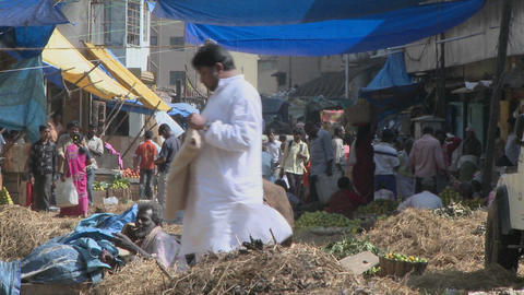 A busy market in India Stock Video Footage