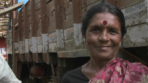 A Hindu woman in India Stock Video Footage