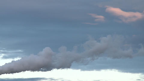 Water vapor floats in the wind which moves it along with... Stock Video Footage