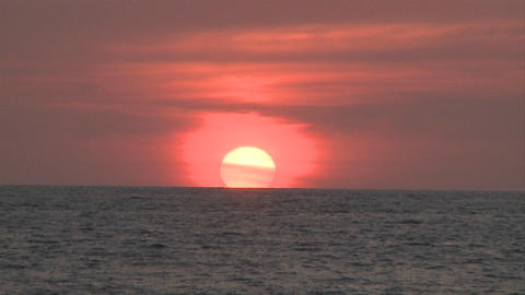 Sun sets in the distance in Puerto Vallarta, Mexico, at a... Stock Video Footage