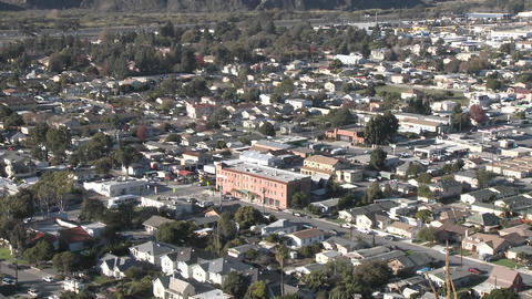 Zoom in from above the urban area on Ventura Avenue in... Stock Video Footage