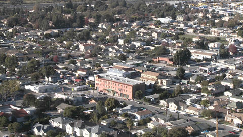 Zoom in from above the urban area on Ventura Avenue in Ventura, California Footage