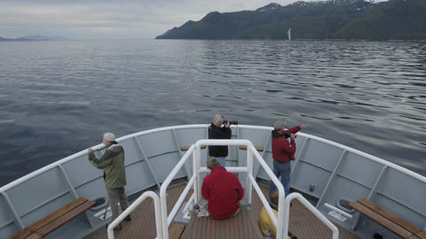 Point of view time lapse of a ship cruising through Chatham Strait in Southeast, Alaska Footage
