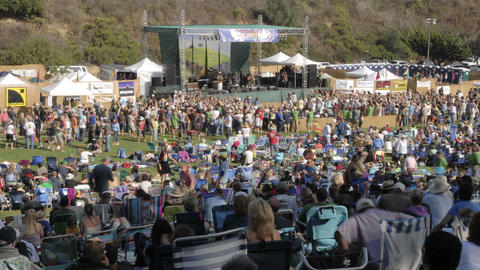 Time lapse of a crowd at an outdoor concert in Ventura,... Stock Video Footage