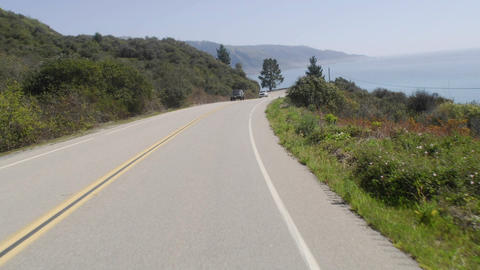 Point of view time lapse driving on Pacific Coast Highway... Stock Video Footage
