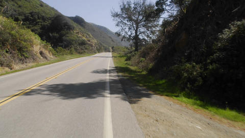Point of view time lapse driving on Pacific Coast Highway in Big Sur, California Footage