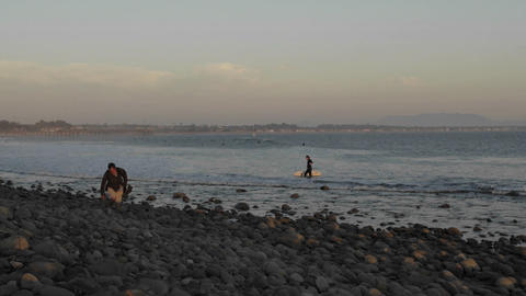 Time lapse of full moon rising at Surfers Point in... Stock Video Footage