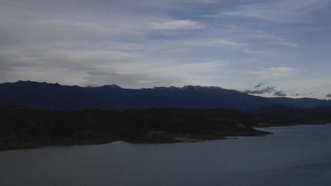 Time lapse of storm over Lake Casitas and the Santa Ynez... Stock Video Footage
